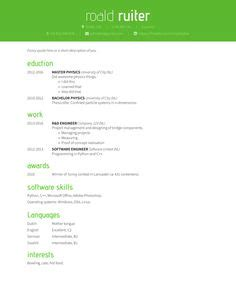 Two column resume layouts
